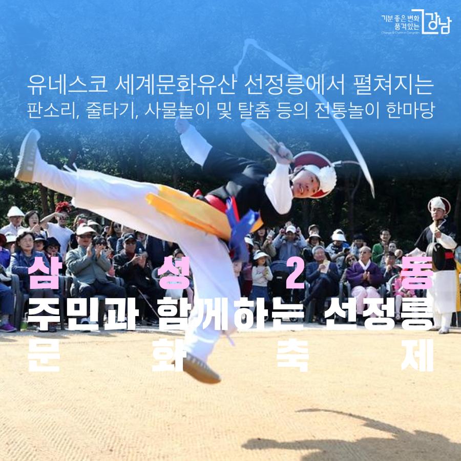 삼성2동 선정릉 문화축제