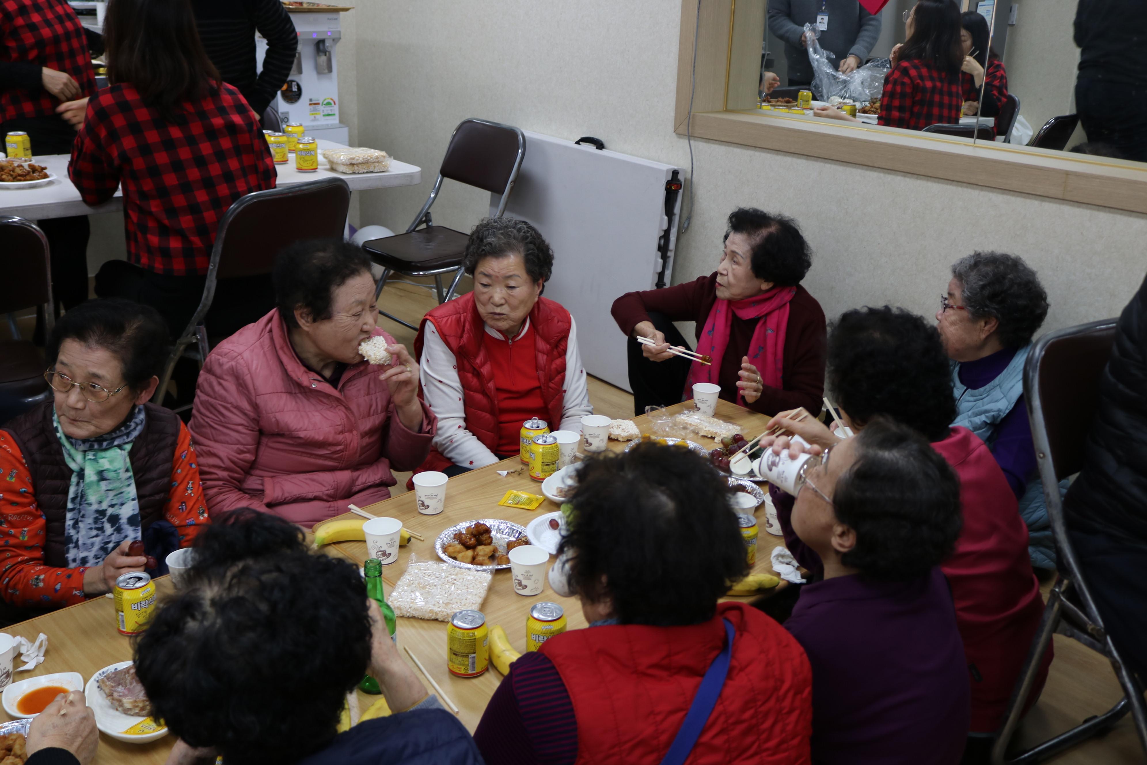 2019년 지역복지활성화 밀미리경로당 팔순잔치(12월)