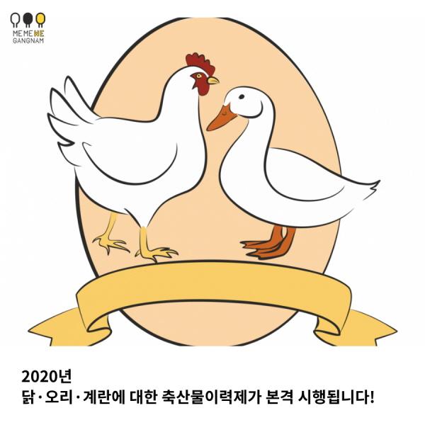 2020년 닭·오리·계란에 대한 축산물이력제가 본격 시행됩니다!