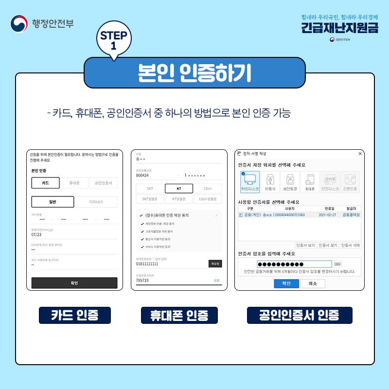 [카드뉴스] 정말 쉬운 긴급재난지원금 신청 방법은?