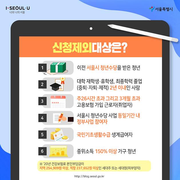 '50만원X6개월' 서울청년수당 6월 30일부터 신청