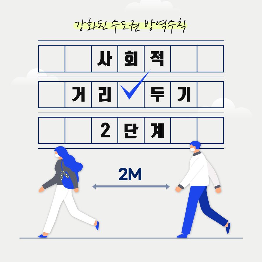 [카드뉴스] 강화된 사회적 거리두기 2단계 (~9월 27일)