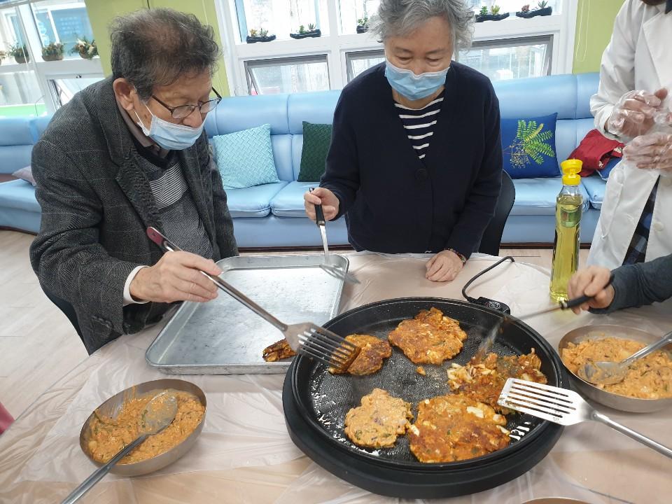 요리교실 (해물김치전)