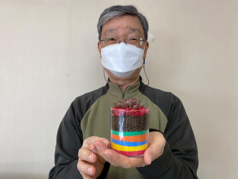 응원해요 색모래 화분 만들기 비대면 봉사활동 진행 [노인전문자원봉사사업]
