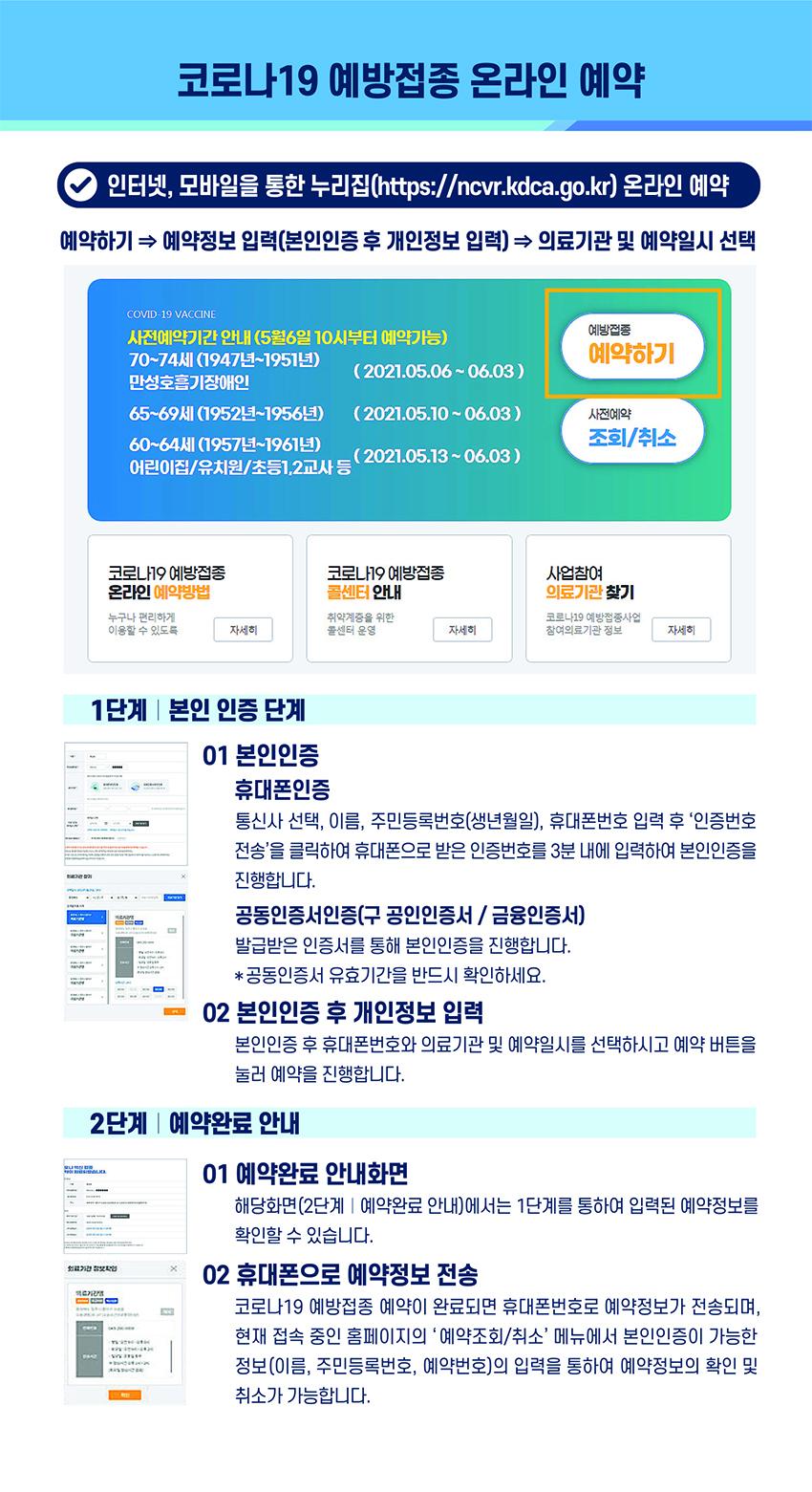 코로나19 예방접종 온라인 예약