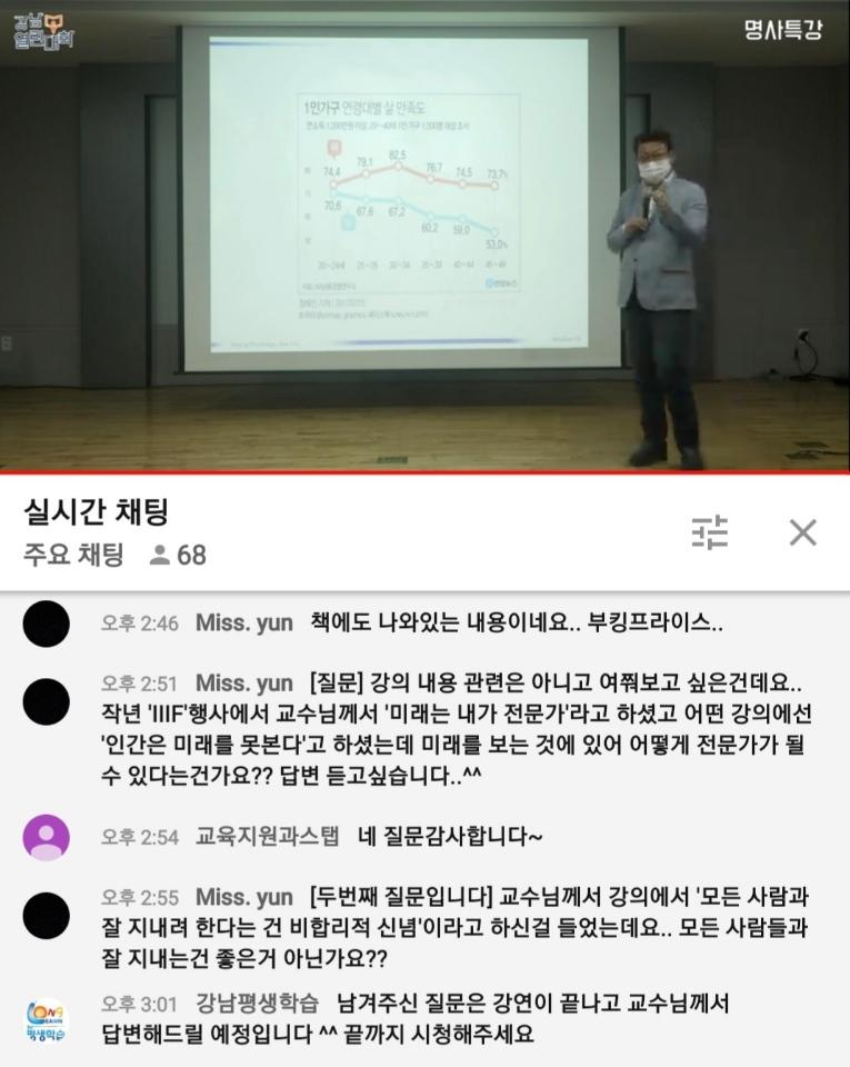 2021 강남열린대학 명사특강 〈제1강〉 김경일 교수 「적정한 삶은 무엇인가」